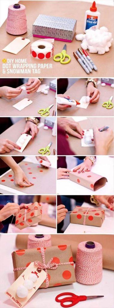 Recicla materiales que tengas en casa, usalos como elementos de decoración del paquete o como paquete en si mismo.